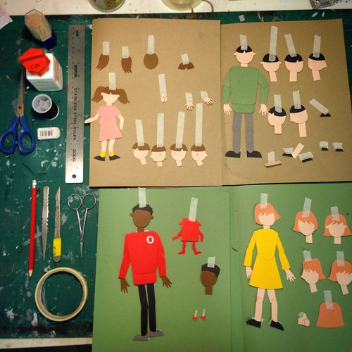 Some of the paper model made...