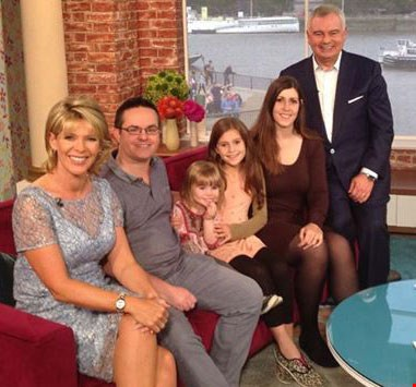 Skint Dad and his family with Ruth Langsford and Eamonn Holmes