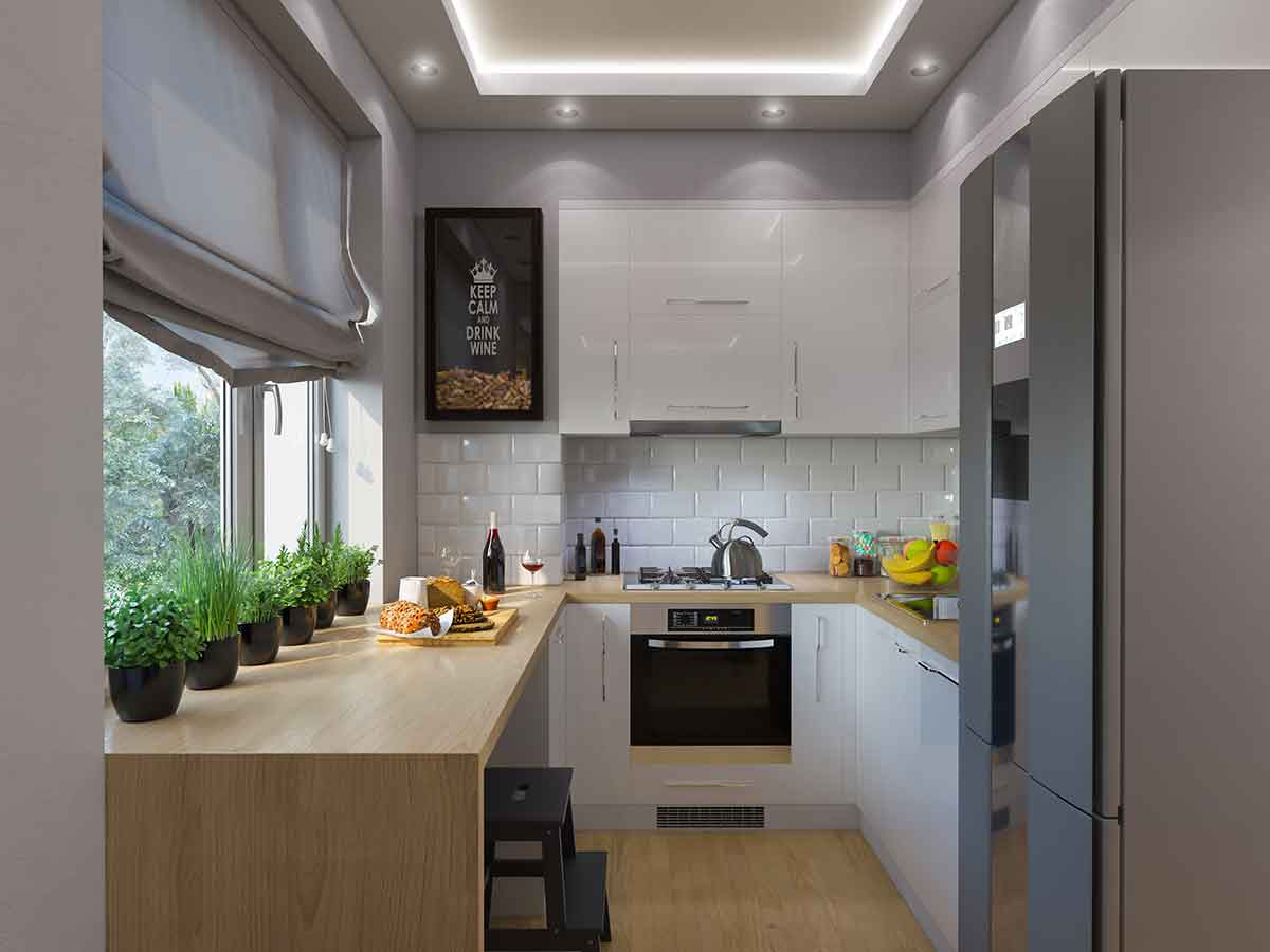 How To Fit Everything You Want Safely Into A Small Kitchen How To Videos Diy As Well As Lifestyle Tips And Tricks