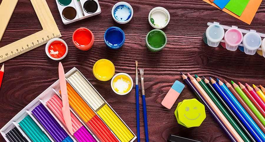 Kids arts and craft equipment