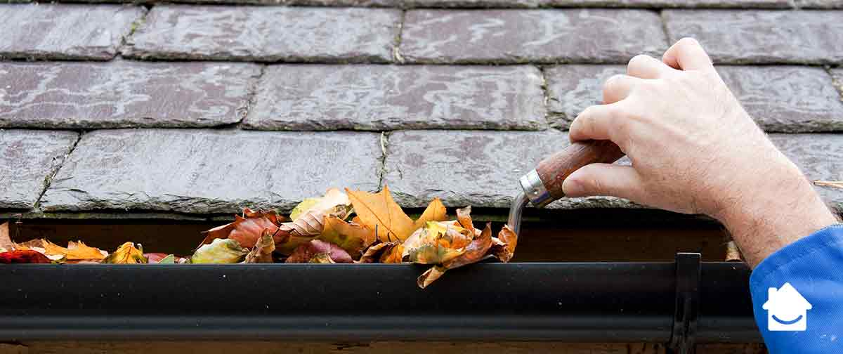 Preparing for heavy rain - clear your guttering