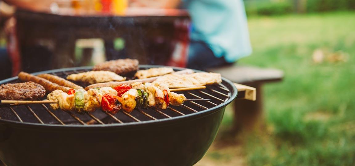 Food on a BBQ