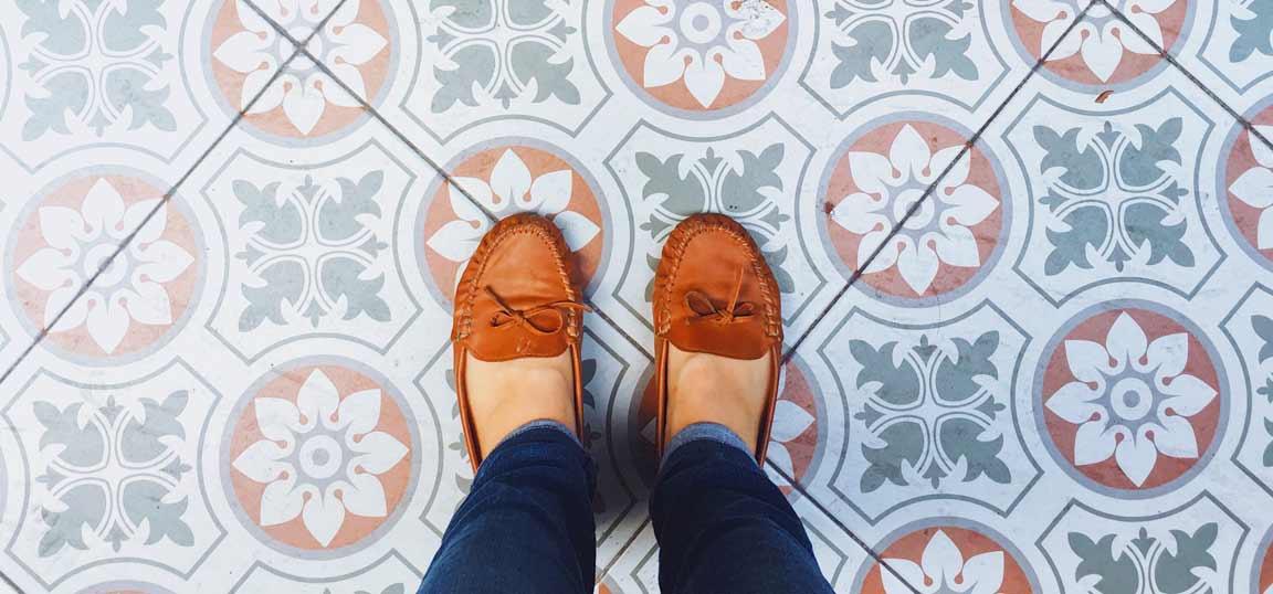 Standing on tiles