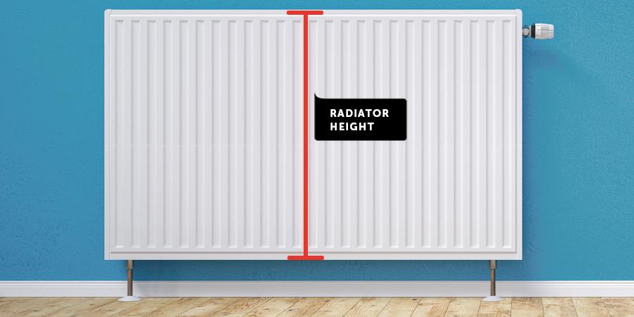 Measure radiator height