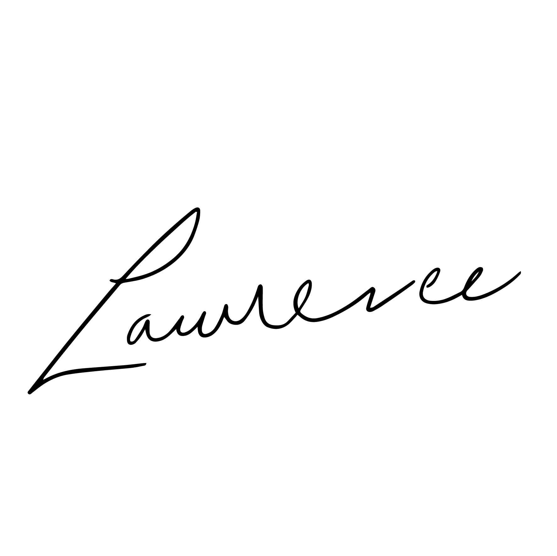signature of Laurence the engineer